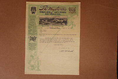 1919 Letterhead with Ornate Vignette from F. E. Myers & Bro., Suppliers of Pumps