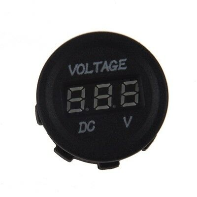 DC 12V-24V Motorcycle LED Digital Display Voltmeter Voltage Meter Round Pan X3L8