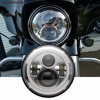 "7"" LED Projector Daymaker Chrome Headlight Harley Street Glide Softail"