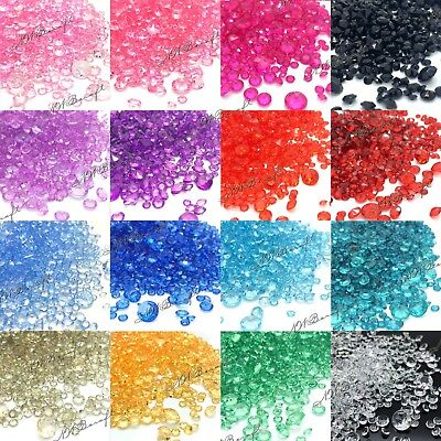 1000 x 10mm Sparkly Crystals Scatter Diamonds Wedding Party Table Confetti