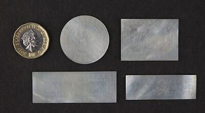 18th century Cantonese mother of pearl gambling gaming counters / tokens. Casino