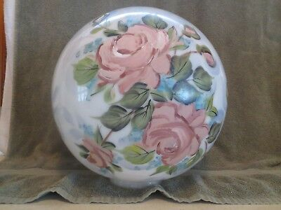 "Large Oversized Hand Painted 360 Degree Lamp Globe Shade 3 7/8"" Fitter"