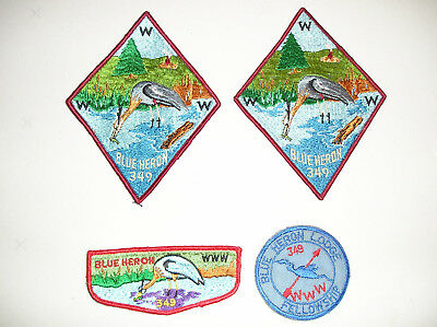 boy scout patches blur heron lodge