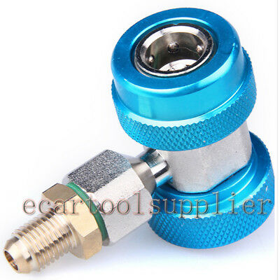 R134a A/C Manifold Gauge Connector Kit Low Pressure Quick Adapter A/C Fitting