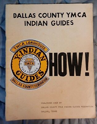 Vintage 1968 Dallas County Ymca Indian Guides Book