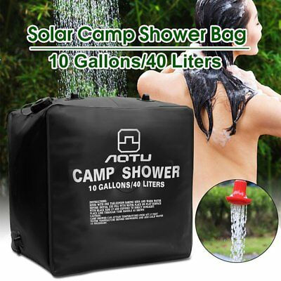 40L Solar Energy Heated Shower Bag Camping Water Bag Outdoor Travel Water MG