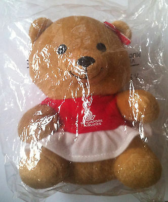 New SINGAPORE AIRLINES Signature Teddy Bear Girl Toy Collectible First Class