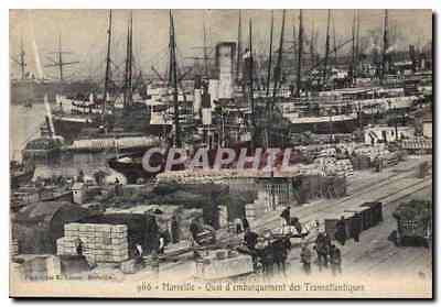 Vintage Postcard Marseilles Dispatching platform of the Deck chairs