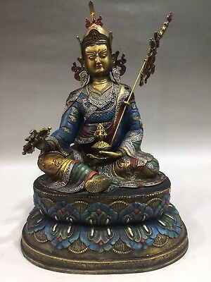 Chinese Antique Tibetan Buddhism Old Copper Hand-made Eagle Buddha Statue Mask Metalware