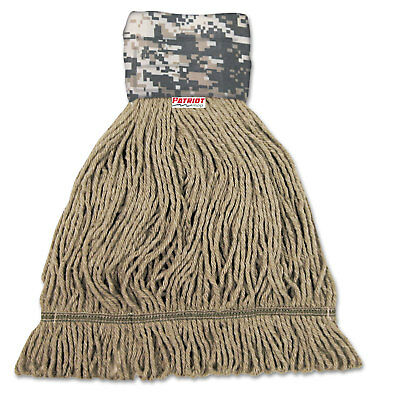 Boardwalk Patriot Looped End Wide Band Mop Head Large Green/Brown 12/Carton