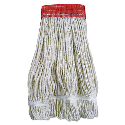 Boardwalk Wideband Looped-End Mop Heads 20 oz Natural w/Red Band 12/Carton
