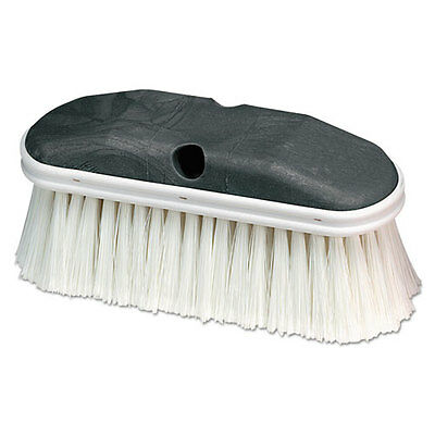 "Carlisle Vehicle Wash Brush White 9"" x 2 3/4"" 12/Carton 36120902DZ"