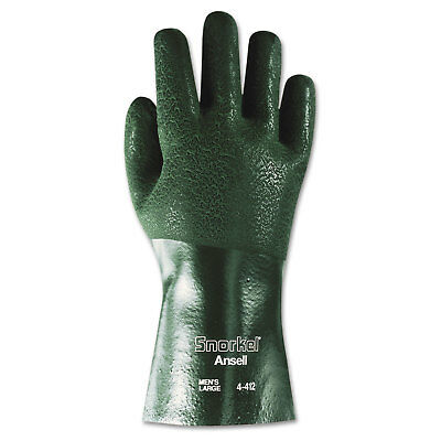 AnsellPro Snorkel Chemical-Resistant Gloves Size 10 PVC/Nitrile Green 12 PR