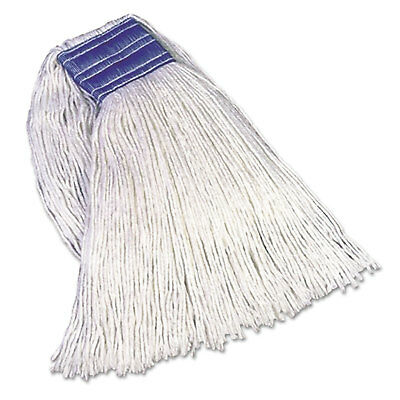 Rubbermaid Commercial Cut-End Blend Mop Heads Cotton/Synthetic White 24 oz 5-in.