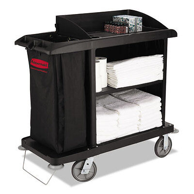 Rubbermaid Commercial Multi-Shelf Cleaning Cart Three-Shelf 22w x 49d x 50h