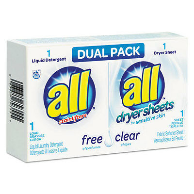 All Free Clear HE Liquid Laundry Detergent/Dryer Sheet Dual Vend Pack 100/Ctn