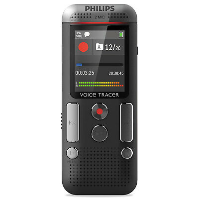 Philips Voice Tracer 2510 Digital Recorder 8 GB Black DVT2510