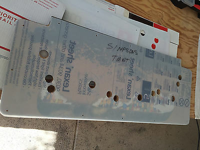 Simpsons & TMNT Teenage  Arcade Cabinet Pre Drilled Lexan Control Panel Cover