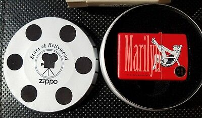 ZIPPO Lighter Stars of Hollywood MARILYN MONROE-RED-K 04/2001-NOS-COMPLETE