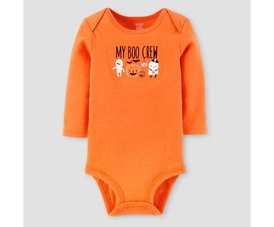 Halloween My Boo Crew Bodysuit -by Just One You Carter's  Orange 3 Months NWT