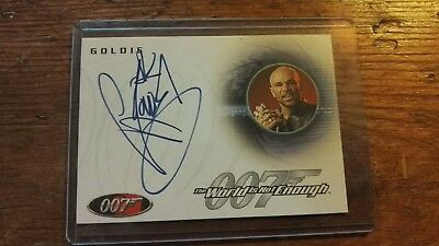 James Bond Goldie Signed Trading card. A37 .