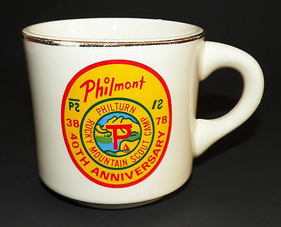 Philmont Rocky Mount Camp BSA Boy Scouts America Mug Coffee Cup 40th Anniversary