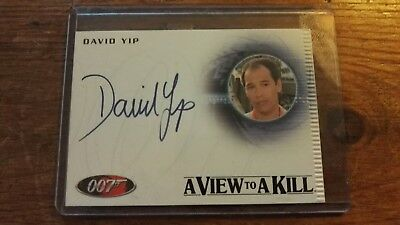 James Bond David yip signed trading card. A view to a kill.