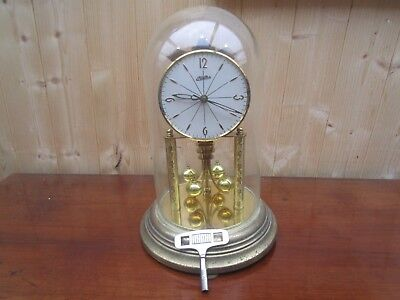 Haller 400 day? torsion anniversary GLASS DOME clock. FOR REPAIR