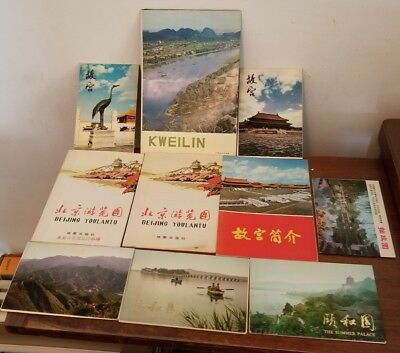 """Postcards CHINA Postcard Packs Books Large Lot  Unsent Not posted 4"""" x 6"""" 1970's"""