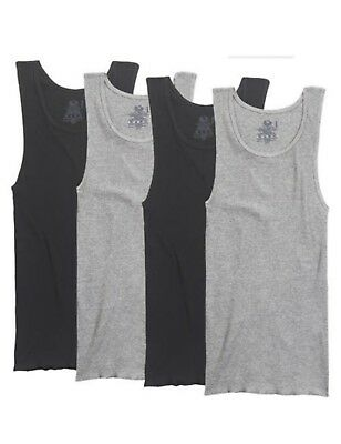 Fruit of the Loom A-Shirt 4pack Black and Grey tank top !!!