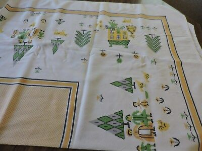 Vintage Tablecloths.  Lot Of Four.  Cutter Or Crafts.  See Desciption....