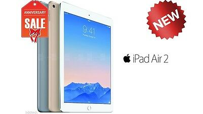 NEW Apple iPad Air 2 64GB WiFi Cellular (UNLOCKED) 9.7 Touch ID GOLD GRAY SILVER