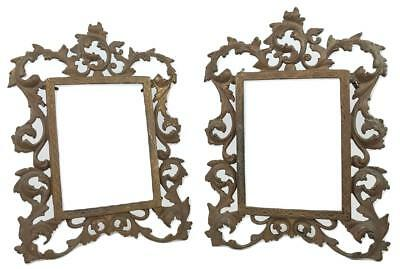 Old PAIR Brass Gilt Ornate Rococo Photo Picture Frames Bradley & Hubbard (B&H)?