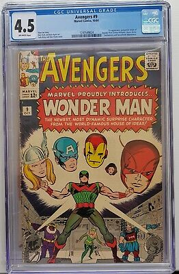 Avengers #9 CGC Graded 4.5 1964 - 1st app Wonder Man - Captain America, Iron Man