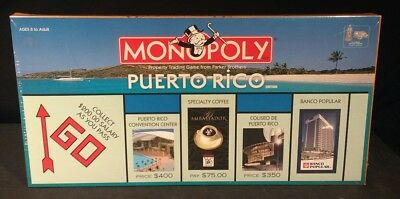 Monopoly Puerto Rico Rare Limited Edition 2005 Hasbro USAopoly New Sealed Game