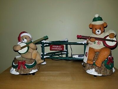 Mr Christmas Dueling Banjo Bears Animated Musical  20 Songs Country Holiday 1997