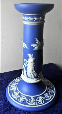 Wedgwood Only Cobalt Jasper Dip Candlestick  In Perfect Condition, Dated 1865
