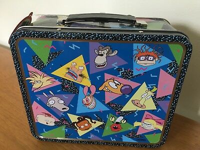 """Brand New 90s Kids Nickelodeon """"Nick"""" Tin Lunchbox * Mint Condition* Very Cool!!"""