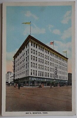 Memphis Tennessee Bry's Department Store Street Cars People 1920's Postcard f160