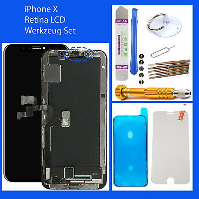 Original OEM Display für iPhone X HD 3D SCHWARZ LCD + Bildschirm BLACK TOP