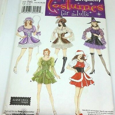 Simplicity Sewing Pattern 4046 Adult Costume Size RR 14 16 18 20 Womens