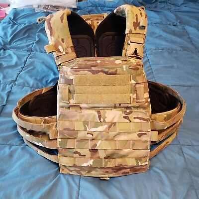 Crye Precision AVS Plate Carrier with Harness Multicam Bags