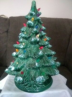 Vintage ceramic christmas tree 16 inches tall