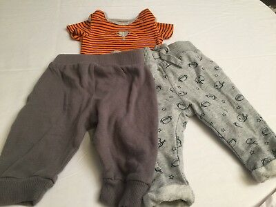 Lot Of 3 Baby Boy Infant 0 3 Months Carters One Piece Koala Baby Gear Pants Gray