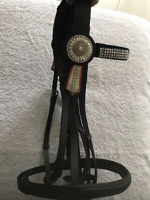 Black Snaffle Bridle Full Size