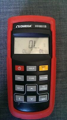 Omega HH801B Thermometer Dual Port Thermocouple Measurements