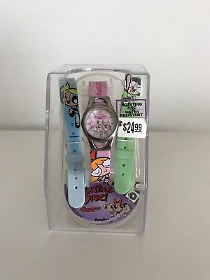 Powerpuff Girls Watch With Three Bands And Rotating Disc Face NIB