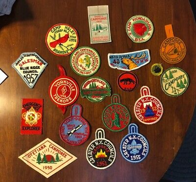 Vintage Boy Scouts Patches 1940's 1950's OA Council Camp BSA Felt Patches