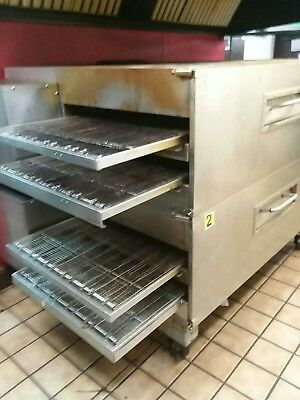 Lincoln Impinger 4 Conveyor Double Stack Pizza Oven Model 3270. Natural Gas