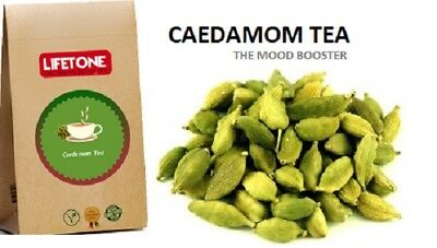 Cardamom Tea,Herbal Mood Booster,Anti-Depressant,Delicious Aroma,40 Teabags